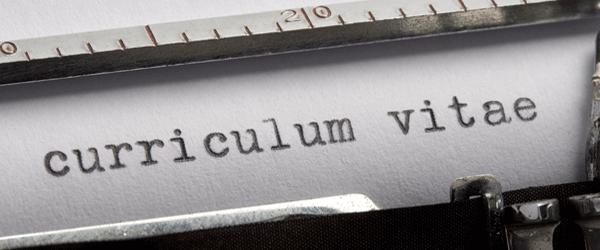 curriculum vitae - typewriter