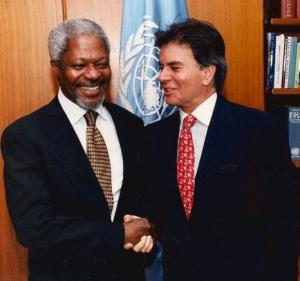 Diego Arria con Kofi Annan