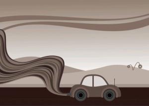 Imagen que muestra vehículo despidiendo smog