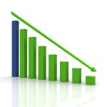 Imagen de gráfico de barras mostrando tendencia de descenso