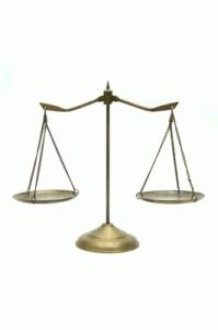 Imagen de la balanza que representa la justicia