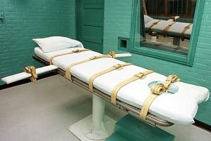 Fotografía de cama donde se administra la inyección letal