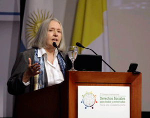Saskia Sassen speaking at Social Rights international forum