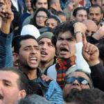 Imagen de jóvenes manifestantes en Túnez