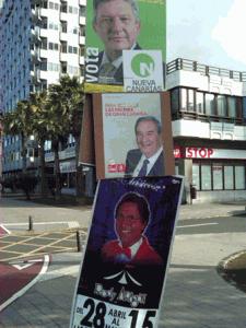 Imagen de carteles electorales en Las Palmas de Gran Canaria