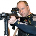 Picture of Anders Behring Breivik wearing military gear