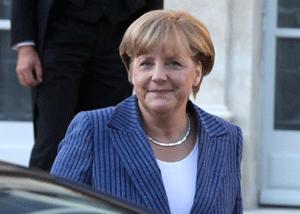 Picture of Angela Merkel Merkel at l'Elysée