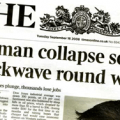Lehman Collapse Frontpage