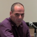 Picture of Yanis Varoufakis at Columbia University