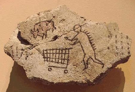 Banksy, El primer hombre va al mercado (2005)