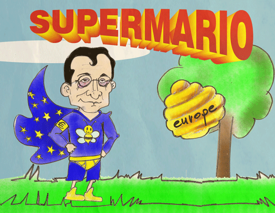 "Mario Draghi cartoon: ""Super Mario"""