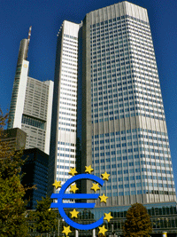European Central Bank bldg in Frankfurt