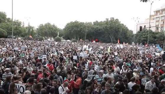 Madrid protests (September 25, 2012)