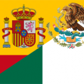 Mexican and Spanish flag
