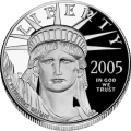 A platinum commemorative United States coin