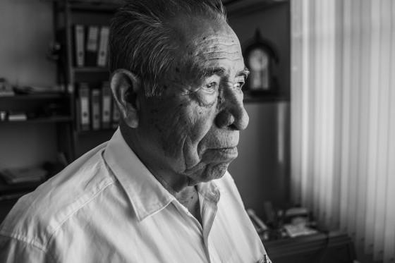 """""""Pedro Domínguez, miembro del Consejo Municipal Antorchista y uno de los primeros organizados del Movimiento""""."""