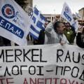 Manifestaciones en contra de la visita de Merkel a Atenas (11/04/2014)
