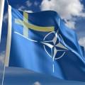 Bandera Finlandia y emblema OTAN