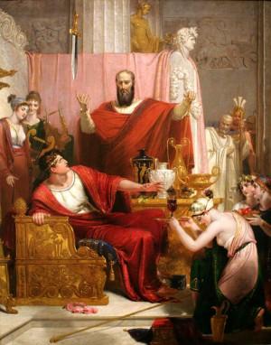 """""""La Espada de Damocles"""" de Richard Westall (1812)"""