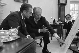 President Gerald R. Ford and the Shah of Iran