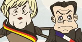 Merkel y Sarkozy (viñeta)