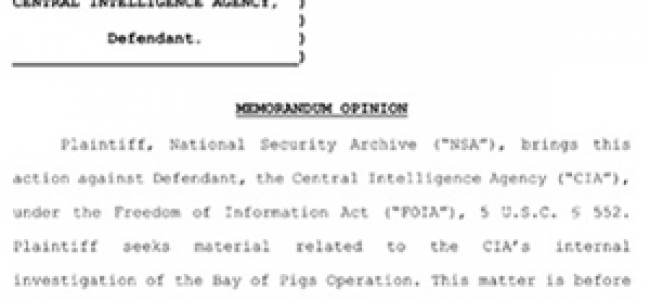 CIA Allowed To Sustain Cover-up Of Bay Of Pigs History