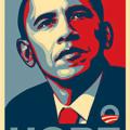 Cartel con imagen de Obama