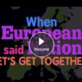 Captura del vídeo musical sobre la crisis del euro