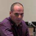 Picture of Yanis Varoufakis at Columbia University