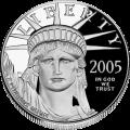 A platinum commemorative United States coin